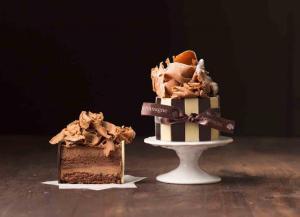 Black truffle hazelnut mousse cake-1